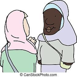 klesten, dames, moslim