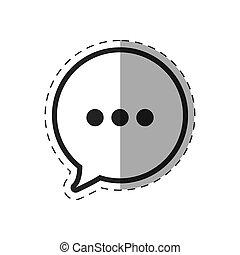 klesten, tekstballonetje, pictogram