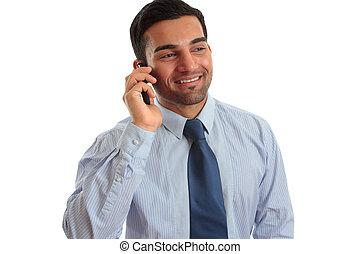 klesten, zakenman, telefoon