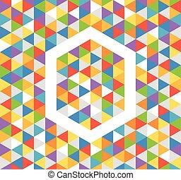 kleur, abstract, achtergrond, driehoeken