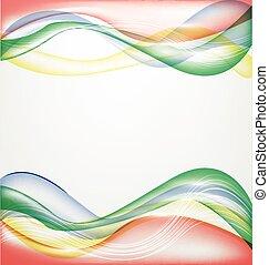 kleur, abstract, achtergrond, golf