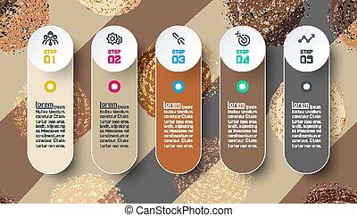 kleur, abstract, achtergrond., ontwerp, infographics, cirkel