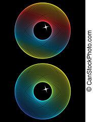 kleur, abstract, eyes, vector
