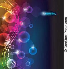 kleur, abstract, gloeiend, achtergrond