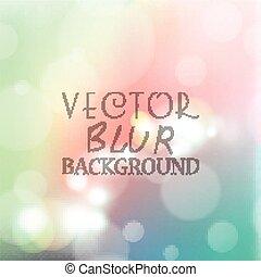 kleur, abstract, helder, bokeh, achtergrond, verdoezelen