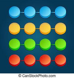kleur, abstract, illustratie, digitale , infographic., 3d