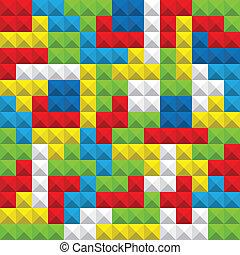 kleur, abstract, seamless, spel, figuren, achtergrond