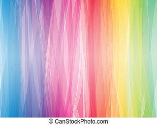 kleur, abstract, spectrum, achtergrond., vector, horizontaal