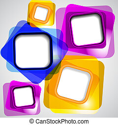 kleur, abstract, squares., achtergrond