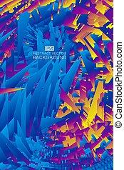 kleur, abstract, vector, fragments., achtergrond