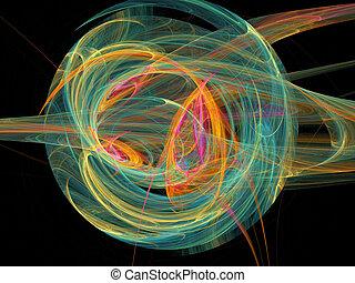 kleur, abstracte kunst, gelul, achtergrond.