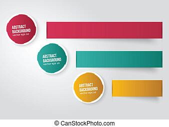 kleur, achtergrond., abstract, vector, etiket