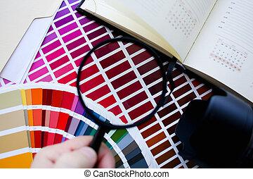 kleur, afdrukken, statistiek, pantone, compensatie