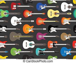kleur, akoestisch, elektrische guitars