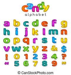 kleur, alfabet, versuikeren