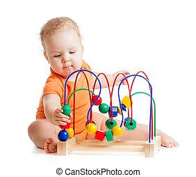 kleur, baby, onderwijsstuk speelgoed, mooi