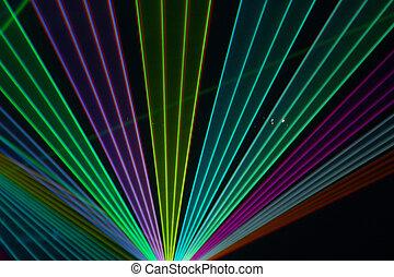 kleur, balken, laser