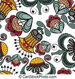 kleur, bloemen, seamless, textuur