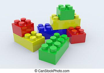 kleur, blokjes, lego