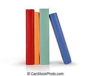kleur, boekjes , vrijstaand, roeien