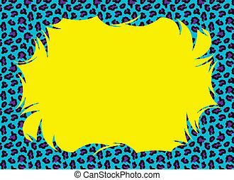kleur, cheetah, vacht, grens, knallen