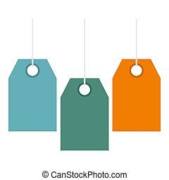 kleur, de markeringen van de prijs, pictogram, plat, stijl