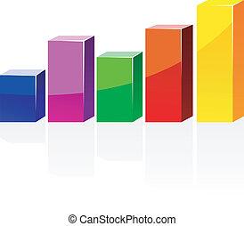 kleur, diagram, schaduw, vector