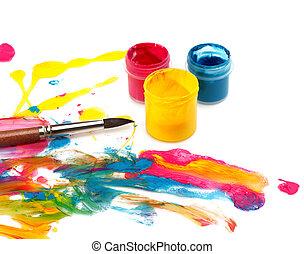 kleur, en, abstract, pijn, achtergrond