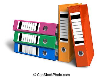 kleur, folders