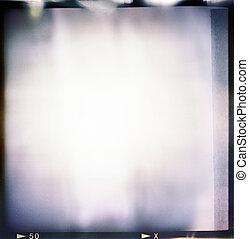 kleur, frame, hard, uitgang, leeg, film, ouderwetse , (6x6),...