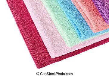 kleur, gecombineerd, handdoeken