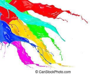 kleur, gespetter