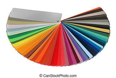 kleur, gids, spectrum