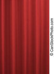 kleur, gordijnen, verzadigd, rood