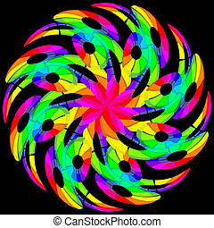 kleur, hypnotic, kolken