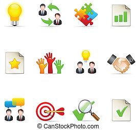 kleur, iconen, -, management