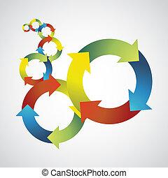 kleur, -, illustratie, symbolen, concept, achtergrond, mal, hergebruiken