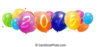 kleur, illustratie, vector, glanzend, achtergrond, jaar, ...