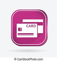 kleur, krediet, plein, card., pictogram