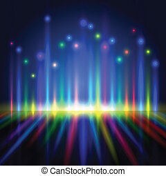 kleur, licht, abstract, lijnen