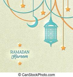 kleur, licht, ramadan, poster