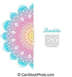 kleur, mandala, achtergrond, mal
