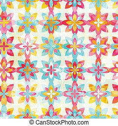 kleur, model, abstract, bloemen, seamless