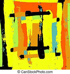 kleur, model, abstract, illustratie, style., graffiti, ontwerp, geometrisch, kwaliteit, jouw