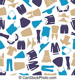 kleur, model, womens, kleding, eps10