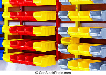 kleur, muur, planken