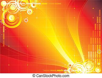 kleur, oneindigheid, rode achtergrond