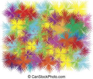 kleur, ontploffing, op wit, achtergrond