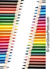 kleur, potloden