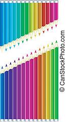 kleur, potloden, set